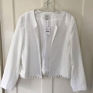 J.  Crew jacket white NWT